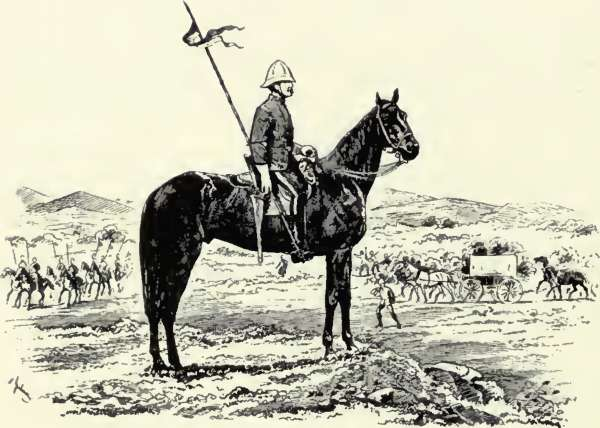 North West Mounted Police Drawing a Lancer of The N.w.m.p a